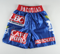 """Manny Pacquiao Signed Boxing Shorts Inscribed """"Pacman"""" (Pacquiao COA) at PristineAuction.com"""