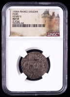 Henry II 1558-A Paris, France Douzain Medieval Silver Coin (NGC AU53) at PristineAuction.com