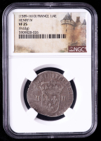 Henry IV (1589-1610) France 1/4 Ecu Medieval Silver Coin (NGC VF25) at PristineAuction.com