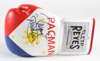"""Manny Pacquiao Signed Cleto Reyes Boxing Glove Inscribed """"Pacman"""" (Pacquiao COA) at PristineAuction.com"""