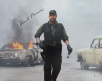 """Chuck Norris Signed """"The Expendables"""" 11x14 Photo (Beckett COA) at PristineAuction.com"""