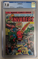 """1976 """"Invaders"""" Issue #5 Marvel Comic Book (CGC 7.0) at PristineAuction.com"""
