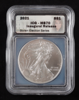2021 Walking Liberty Inaugural Release Silver Half Dollar (ICG MS70) at PristineAuction.com