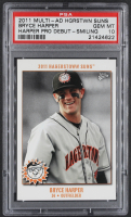 Bryce Harper 2011 Hagerstown Suns Bryce Harper Multi-Ad #3 Smiling RC (PSA 10) at PristineAuction.com
