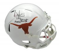 "Vince Young Signed Texas Longhorns Full-Size Speed Helmet Inscribed ""2005 National Champs"" & ""Hook 'Em"" (Beckett Hologram) at PristineAuction.com"
