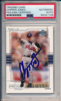 Chipper Jones Signed 2001 Upper Deck Pros and Prospects #48 (PSA Encapsulated) at PristineAuction.com