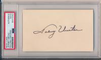 Johnny Unitas Signed 3x5 Index Card (PSA Encapsulated) at PristineAuction.com