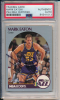 Mark Eaton Signed 1990-91 Hoops #287 (PSA Encapsulated) at PristineAuction.com