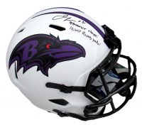 """Jamal Lewis Signed Ravens Full-Size Lunar Eclipse Alternate Speed Helmet Inscribed """"SB XXXV Champs"""" & """"10607 Rushing Yards"""" (Beckett COA) at PristineAuction.com"""