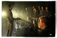 "Jeffrey Dean Morgan Signed ""The Walking Dead"" 24x36 Canvas (JSA COA) at PristineAuction.com"