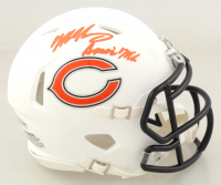 "Mike Singletary Signed Bears Matte White Speed Mini Helmet Inscribed ""Samurai Mike"" (Beckett COA) at PristineAuction.com"
