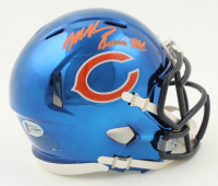 "Mike Singletary Signed Bears Chrome Speed Mini Helmet Inscribed ""Samurai Mike"" (Beckett COA) at PristineAuction.com"