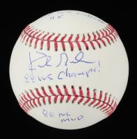 "Kirk Gibson Signed OML Baseball Inscribed ""88 NL MVP"", ""88 WS Champs!"" & ""88 WS Walkoff HR"" (Radtke Hologram) at PristineAuction.com"