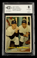 Mickey Mantle / Yogi Berra 1957 Topps #407 Yankees Power Hitters (BCCG 8) at PristineAuction.com