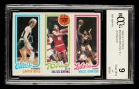 Larry Bird / Julius Erving / Magic Johnson 1980-81 Topps #6 RC (BCCG 9) at PristineAuction.com