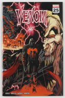 """Donny Cates & Ryan Stegman Signed 2020 """"Venom"""" Issue #25 Ryan Stegman 2nd Printing Wraparound Cover Marvel Comic Book (Unknown Comics COA) at PristineAuction.com"""