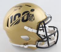 "Ray Guy Signed NFL 100th Season Logo Speed Full Sized Helmet Inscribed ""HOF '14"" (PSA COA) at PristineAuction.com"