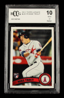 Mike Trout 2011 Topps Update #US175 RC (BCCG 10) at PristineAuction.com