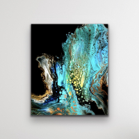 """Cessy """"Ocean Embers """" 24x32 Print at PristineAuction.com"""