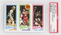 Larry Bird RC / Julius Erving TL / Magic Johnson RC 1980-81 Topps #6 34 (PSA 7) at PristineAuction.com