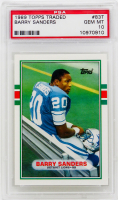 Barry Sanders 1989 Topps Traded #83T RC (PSA 10) at PristineAuction.com