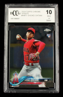 Shohei Ohtani 2018 Topps Chrome Update #HMT1 RC (BCCG 10) at PristineAuction.com