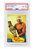 Hulk Hogan 1985 Topps WWF #1 (PSA 8) at PristineAuction.com