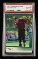 Tiger Woods 2001 Upper Deck #1 RC (PSA 10) at PristineAuction.com