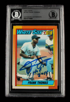 """Frank Thomas Signed 1990 Topps #414B RC Inscribed """"HOF 2014"""" (BGS Encapsulated) at PristineAuction.com"""