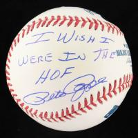 """Pete Rose Signed OML Baseball Inscribed """"I Wish I Were In The HOF"""" (Leaf COA & Rose Hologram) at PristineAuction.com"""
