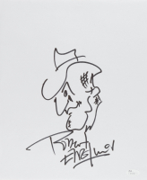 """Robert Englund Signed """"A Nightmare on Elm Street"""" 11x14 Hand-Drawn Sketch of Freddy Krueger (JSA COA) at PristineAuction.com"""