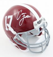 Cameron Latu Signed Alabama Crimson Mini Helmet (PSA COA) at PristineAuction.com