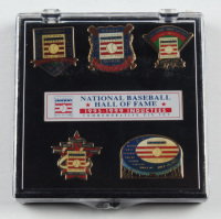 1995-99 Baseball HOF Inductees Commemorative Pin Set with Case at PristineAuction.com