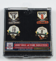 2007 Baseball HOF Inductees LE Commemorative Pin Set with Case at PristineAuction.com
