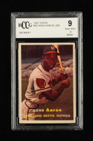 Hank Aaron 1957 Topps #20 (BCCG 9) at PristineAuction.com