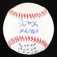 Denny McLain Signed OML Baseball with (9) Career Inscriptions (PSA COA) at PristineAuction.com
