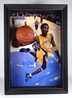 Kobe Bryant Signed Custom Framed 31.5x44 3D Ball Display (PSA COA) at PristineAuction.com