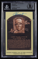 Chipper Jones Signed Gold Hall of Fame Plaque Postcard (BGS Encapsulated) at PristineAuction.com