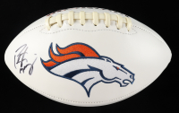 Peyton Manning Signed Broncos Logo Football (Manning Hologram) at PristineAuction.com