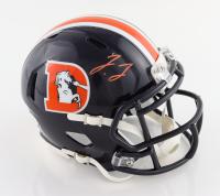 Jerry Jeudy Signed Broncos Throwback Speed Mini Helmet (JSA COA) (See Description) at PristineAuction.com