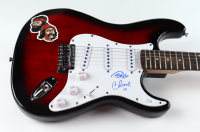 """Cheech Marin & Tommy Chong Signed 40"""" Cheech & Chong Logo Electric Guitar Inscribed """"19"""" (AutographCOA COA) at PristineAuction.com"""