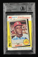 Bob Gibson Signed 1982 K-Mart #14 68NL (BGS Encapsulated) at PristineAuction.com