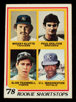Mickey Klutts / Paul Molitor RC / Alan Trammell RC / U.L. Washington RC 1978 Topps #707 Rookie Shortstops at PristineAuction.com