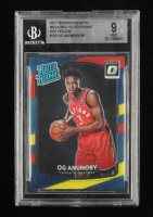 OG Anunoby 2017-18 Donruss Optic Mega Box Rated Rookie Red Yellow #178 RR RC (BGS 9) at PristineAuction.com