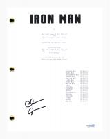 "Clark Gregg Signed ""Iron Man"" Movie Script (AutographCOA COA) at PristineAuction.com"