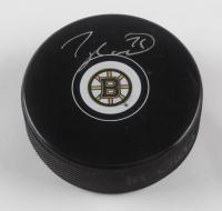 Taylor Hall Signed Bruins Logo Hockey Puck (Hall COA) at PristineAuction.com
