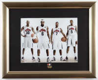 Kobe Bryant, LeBron James & Kevin Durant Team USA 13x16 Custom Framed Photo Display with USA Basketball Olympic Pin at PristineAuction.com