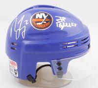 Nick Leddy & Johnny Boychuk Signed Islanders Logo Mini Helmet (Leddy COA & Boychuk COA) at PristineAuction.com