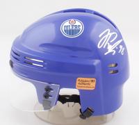 Jesse Puljujarvi Signed Oilers Logo Mini Helmet (Puljujarvi COA) at PristineAuction.com