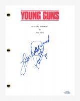 "Lou Diamond Phillips Signed ""Young Guns"" Movie Script (AutographCOA COA) at PristineAuction.com"